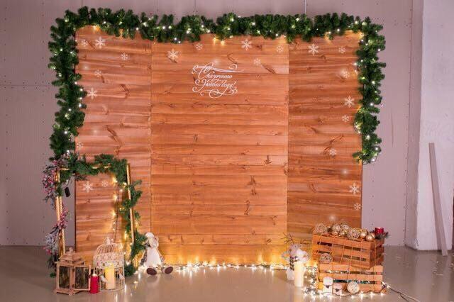 Задник на свадьбу деревянный