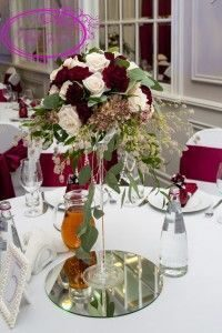 Цветы в вазах мартини
