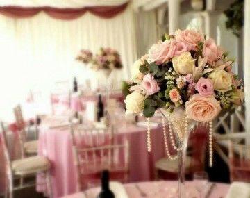 Цветы в вазе мартини