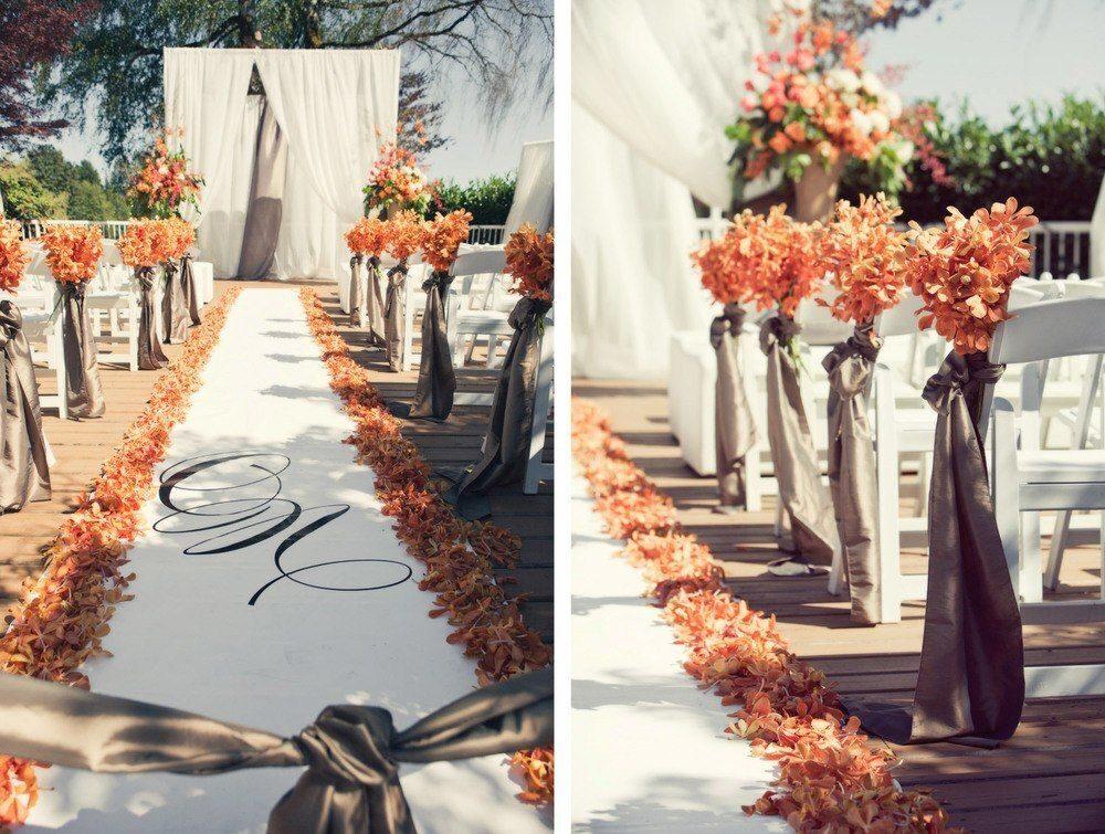 Свадебная церемония в осенних тонах